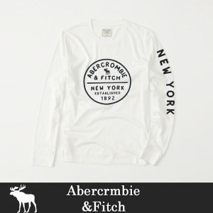 【Abercrombie & Fitch】アバクロ7分袖Tシャツ メンズ 長袖 A&F ab599