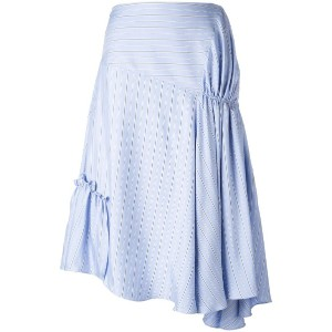 JW Anderson - gathered asymmetric skirt - women - シルク/アセテート - 6