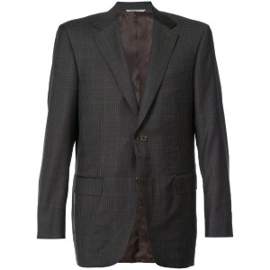 Canali - plaid tailored jacket - men - キュプロ/ウール - 56