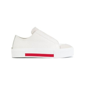 Alexander McQueen - low cut lace-up sneakers - women - レザー/Canvas/rubber - 37