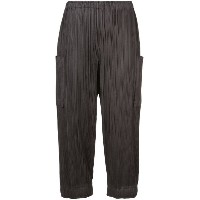 Pleats Please By Issey Miyake - high waisted cargo pants - women - ポリエステル - 2