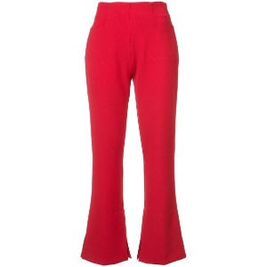 Roland Mouret - flared Goswell trousers - women - Elastodiene/ポリエステル/ビスコース - 8