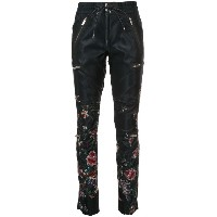 Sacai - floral embroidered track pants - women - ナイロン/キュプロ - 3