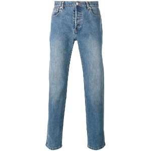 A.P.C. - washed effect straight leg jeans - men - コットン/ポリウレタン - 36
