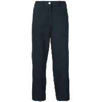 Lemaire - high-waisted straight trousers - women - コットン - 42