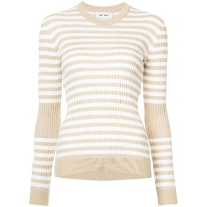 Courrèges - striped top - women - コットン/カシミア - 1
