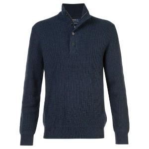 Polo Ralph Lauren - high collar button jumper - men - メリノウール - M