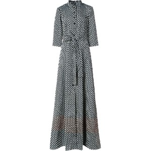 Carolina Herrera - spotted trench gown - women - シルク/ポリエステル - 4