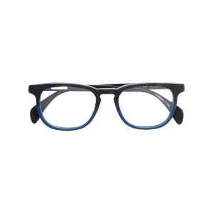Oliver Goldsmith - square glasses with sunglass attachment - unisex - アセテート - ワンサイズ