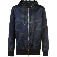 Balmain - camouflage zipped bomber jacket - men - コットン/レーヨン - L