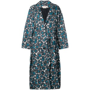 Marni - floral pattern coat - women - ナイロン - 36