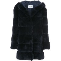 Yves Salomon - Rex midi coat - women - シルク/ラビットファー - 38