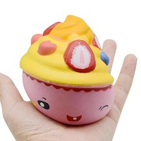 vibola 1pcsジャンボSquishyアイスクリームケーキKawaii Cute Animal Slow Rising Sweet香りつきVentチャームBread Cake Kid Toy...