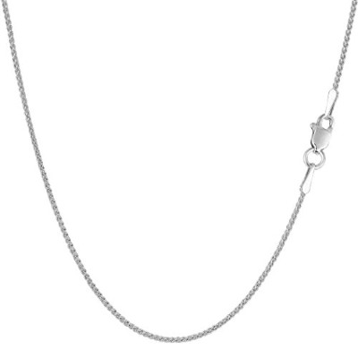 10k White Gold Wheat Chain Necklace, 1.0mm, 18""