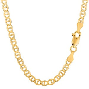 """14k Yellow Gold Mariner Link Chain Necklace - 5.5 mm, 30"""""""
