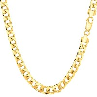 """14k Yellow Gold Miami Cuban Link Chain Necklace - Width 5mm, 20"""""""