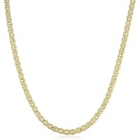 """14K Yellow Gold Filled Solid Mariner Chain Necklace, 4.5 mm, 24"""""""