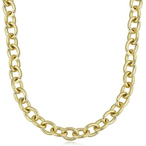 """14K Yellow Gold Filled Rolo Chain Necklace, 7.6mm, 18"""""""