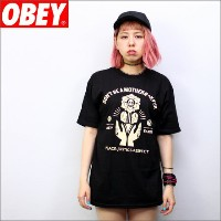 OBEY Tシャツ OBEY MOTHERFR 黒 (メンズサイズ)