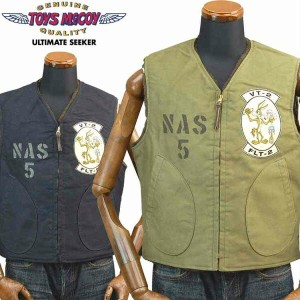 TOYS McCOYトイズマッコイ アルパカデッキベストALPACA DECK VEST U.S.N. COYOTE and ROAD RUNNER「NAS5」TMJ1710