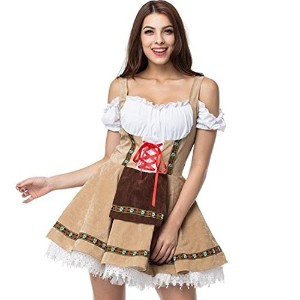 Oktoberfest Costume For Girl Festival French Maid Party Dresse Halloween Cosplay-  polo