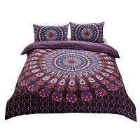 Zhhlinyuan 枕カバー 掛け布団カバー Microfiber Queen King Size Quilt Duvet Cover Bedding Bed Set and 2...