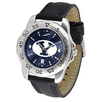 """Brigham Young Cougars NCAA Anochrome """" Sport """" Mens Watch (レザーバンド)"""