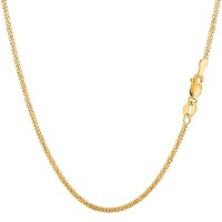 """10k Yellow Gold Gourmette Chain Necklace, 1.5mm, 18"""""""