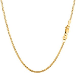 """14k Yellow Gold Gourmette Chain Necklace, 1.5mm, 16"""""""