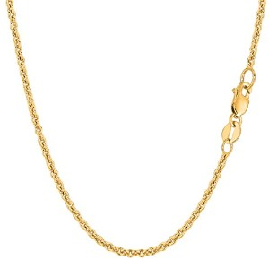 """14k Yellow Gold Forsantina Chain Necklace, 2.3mm, 18"""""""