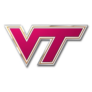 NCAA Virginia Tech Hokies Die Cutカラー自動車エンブレム