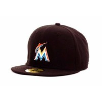 New Era 59Fifty Fitted MLB AC YOUTH On Field Miami Marlinsホームキャップ US サイズ: 6 3/8 カラー: ブラック