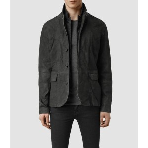 SURVEY LEATHER BLAZER(Anthracite)