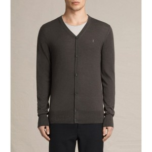 MODE MERINO CARDIGAN (Military Brown)