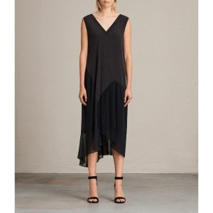ARLA PLEAT DRESS (Black)
