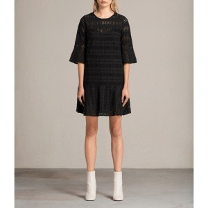 【SALE 29%OFF】DAKOTA RUFFLE DRESS (Black)