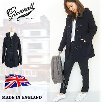 [Sale 40%OFF]Gloverall グローバーオール ダッフルコート メルトン ショート ウールコート レディース 裏地チェック made in England 国内 【正規品】432FC...