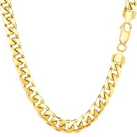 14k Yellow Gold Miami Cuban Link Chain Necklace - Width 5.8mm, 24""