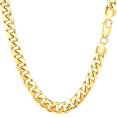 """14k Yellow Gold Miami Cuban Link Chain Necklace - Width 5.8mm, 22"""""""
