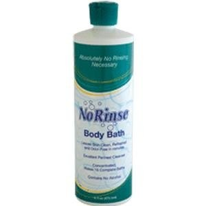 No-Rinse Body Bath with Odor Eliminator, No Rinse Bath Sol 16 oz, (1 CASE, 12 EACH) by Clean Life...