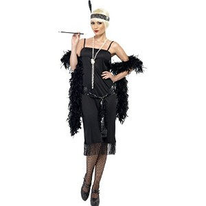 Smiffys Women's Black Flapper Costume - Us Dress 16-18