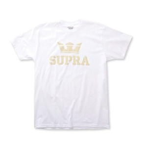 [スープラ] SUPRA ABOVE TEE (M, WHITE/BEIGE(167))