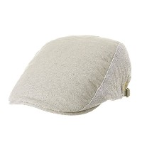 WITHMOONSキャスケットハンチング帽 Summer Linen Flat Cap Two Block Neutral Color Ivy Hat LD3051 (Ivory)