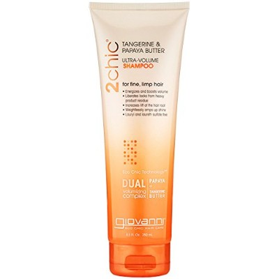 2chic Ultra Volume Tangerine and Papaya Butter Shampoo, 8.5 oz by GIOVANNI HAIR CARE PRODUCTS