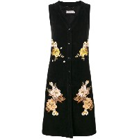 Coach - floral embroidered dress - women - ポリエステル/キュプロ/ラム・ヌバックレザー - 4