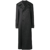 Haider Ackermann - long double-breasted coat - women - コットン - 38