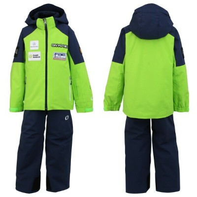 ONYONE(オンヨネ) ジュニア 上下セット スキーウェア Jr.ANDORRA SIDEOPEN SUIT レプリカモデル ONS703S2 333698(LIME×NAVY) 130 140...