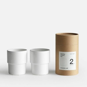 concrete craft / Stacking Cup 2P Set【コンクリートクラフト/スタッキングカップ/フリーカップ/クラフトワン/craft_one/ボーンチャイナ】[113156