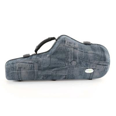 JAKOB WINTER アルトサックスケース 51092 WAVEシリーズ Greenline coloured shaped case for Alto Saxophone (JEANS...