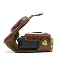 "MegaGear ""Ever Ready"" Protective Leather Camera Case, Bag for Canon PowerShot G15, Canon PowerShot..."